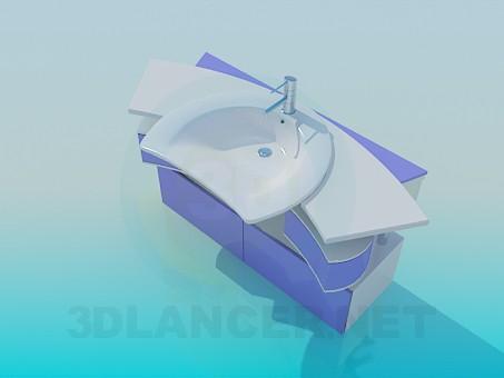 3d модель Раковина з висувними ящиками – превью