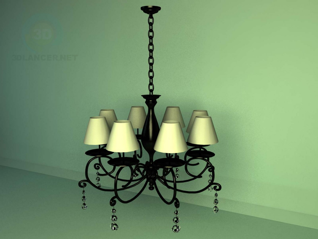 3d model Chandelier usual - preview