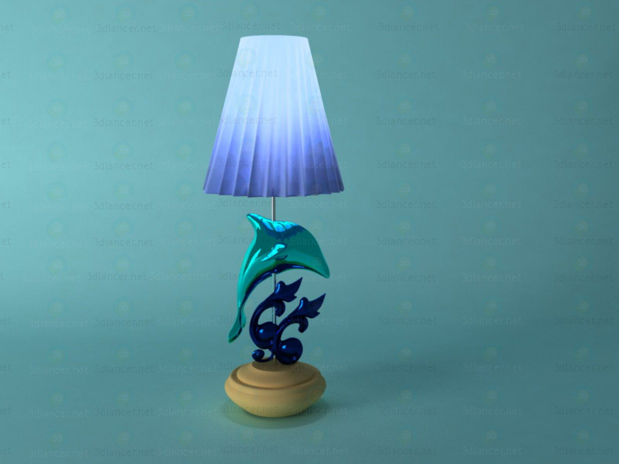 3d modeling lamp with a dolphin model free download
