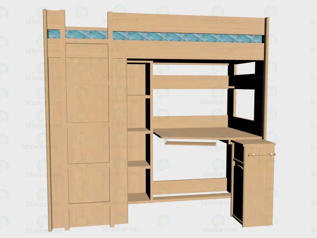 3d модель Кровать Skaut VOX – превью
