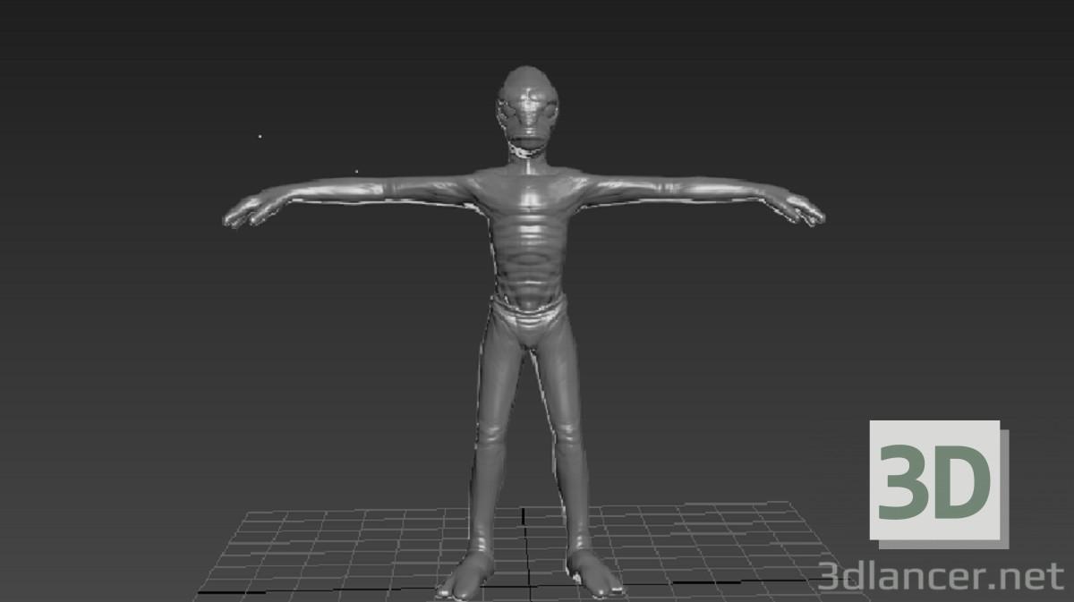 3d модель Пришелец – превью