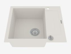 Fregadero, 1 recipiente con un ala para secar - alabastro Rapido (ZQK A11A)