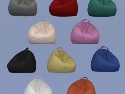 Set of ten armchairs in bags of different colors