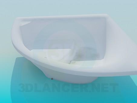 3d модель Угловая ванна с местом для сидения – превью