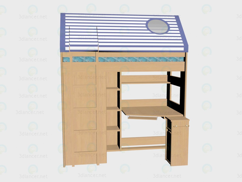 3d model Bed Skaut (with tent) VOX - preview