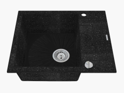 Sink, 1 bowl with draining board - graphite Rapido (ZQK 211A)
