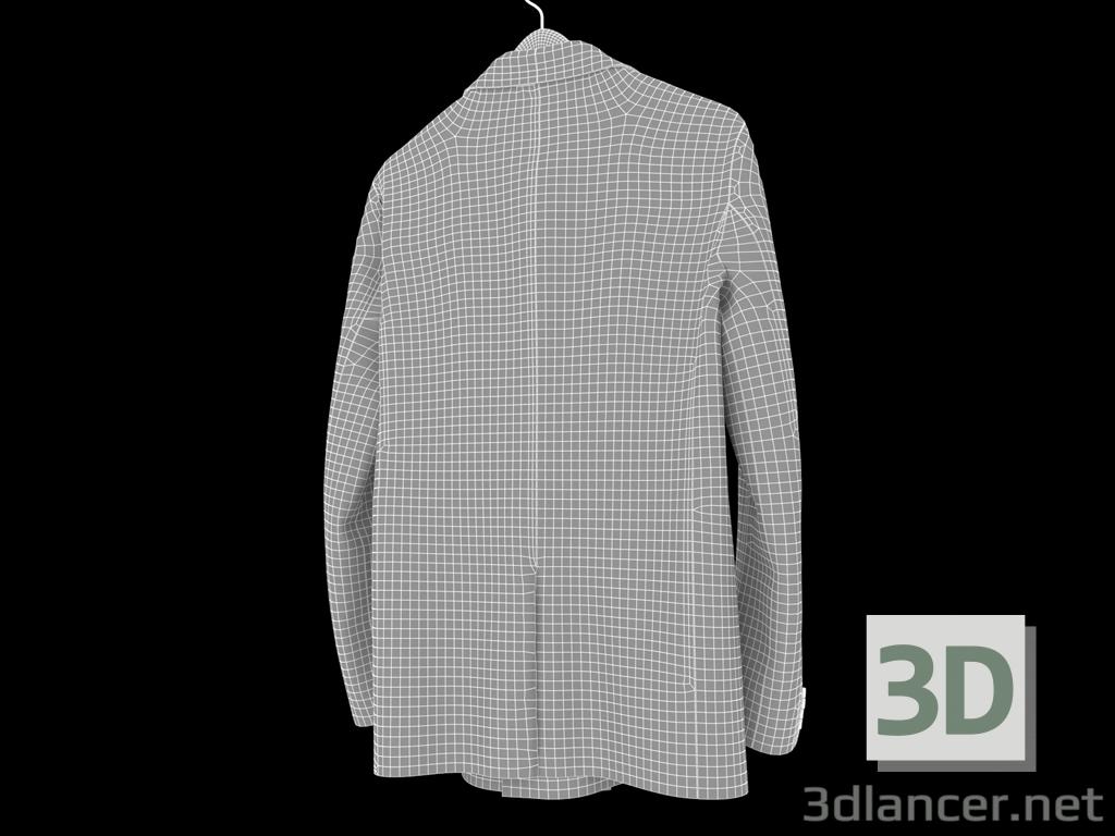 3d Men's classic jacket model buy - render