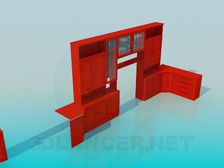 3d модель Мебельный гарнитур для зала – превью
