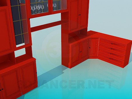 3d model Furniture set for hall - preview