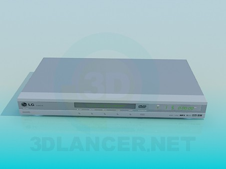 3d model DVD LG - preview
