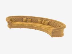 Sofá semicircular clásica