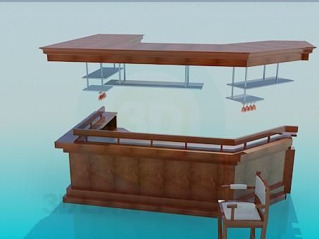 3d modeling Bar model free download