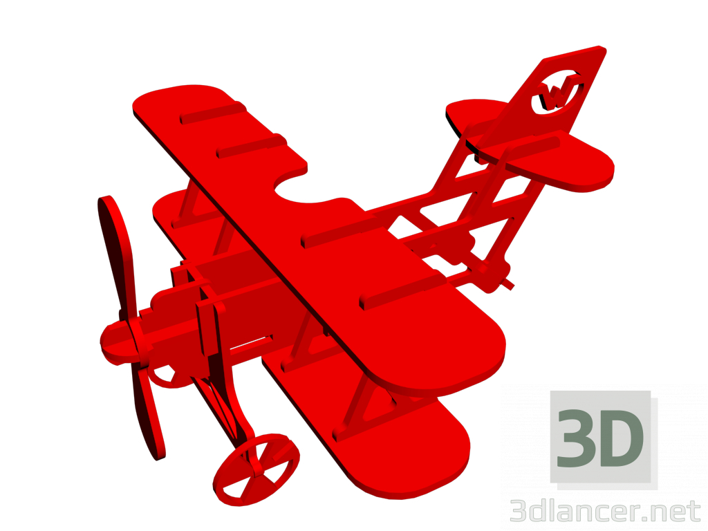 3d model Toy plane - preview