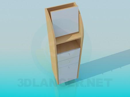 3d модель Тумба-трибуна – превью