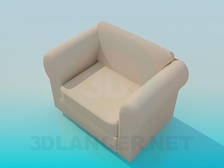 modelo 3D Sillón Soft - escuchar