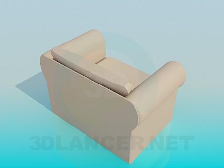 3d модель Мягкое кресло – превью