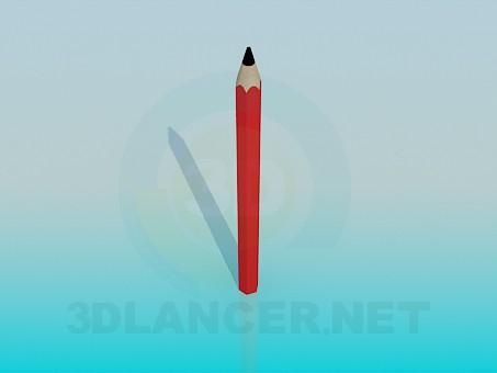 3d модель Олівець – превью