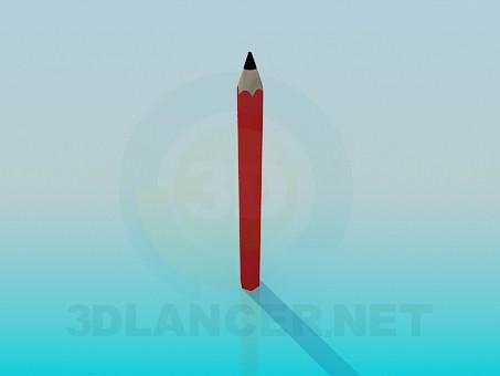3d модель Карандаш – превью