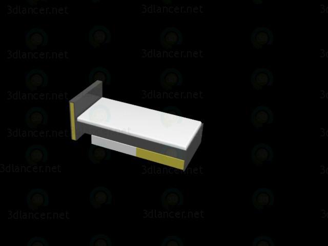 descarga gratuita de 3D modelado modelo Cama en un vivero BRW