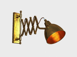 Sconce wall INDUSTRIAL SCISSOR SCONCE (SN012-1-BRS)