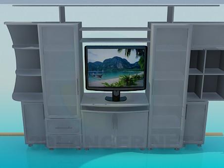 3d model Un conjunto de muebles en la sala de estar - vista previa