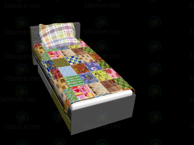 3d modeling Kids bed by BRW model free download