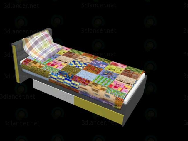3d модель Ліжко детcкого BRW – превью