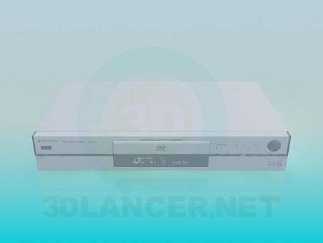 3d model DVD Panasonic - vista previa