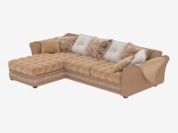 sofá de la esquina modular