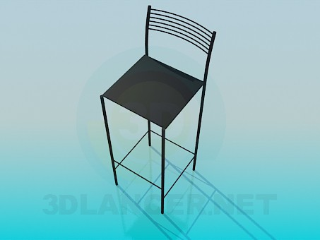 3d model High chair legs - preview