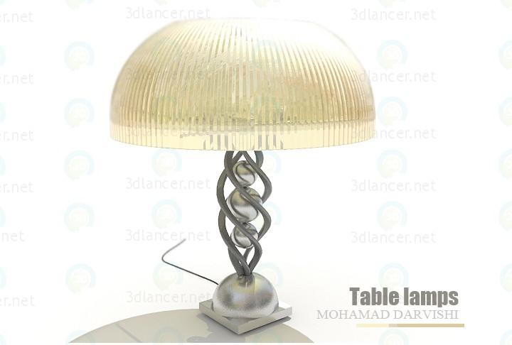 3d модель Настольные лампы – превью
