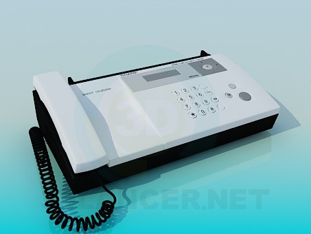 modelo 3D Fax Sharp - escuchar