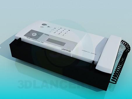 3d model Sharp Fax - preview