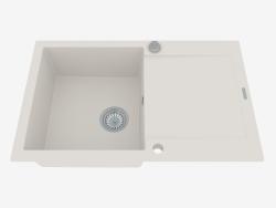 Fregadero, 1 recipiente con un ala para secar - alabastro Rapido (ZQK A113)