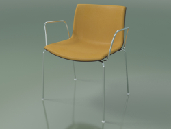 Chair 2040 (4 legs, with armrests, with front trim, polypropylene PO00404)