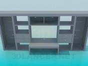 Stkenka-mueble con escritorio