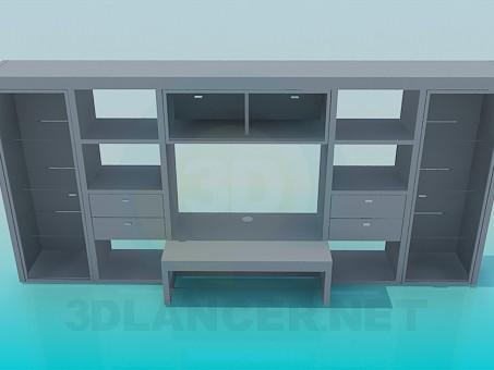 3d model Stkenka-mueble con escritorio - vista previa