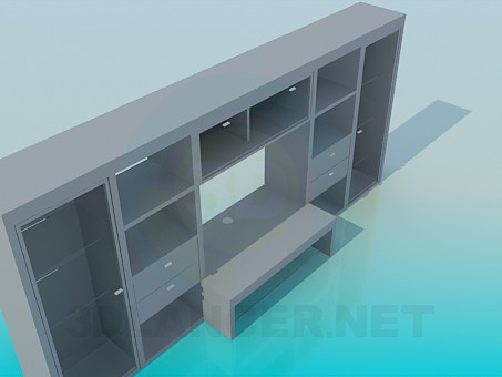 3d model Stkenka-cabinet with writing desk - preview