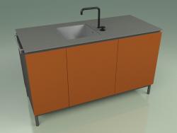 Module évier 002 (Metal Rouille)