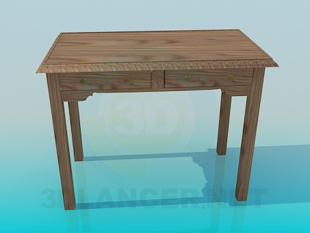 3d modeling Wooden table model free download