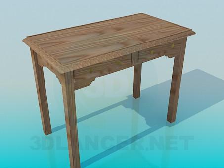modelo 3D Mesa de madera - escuchar
