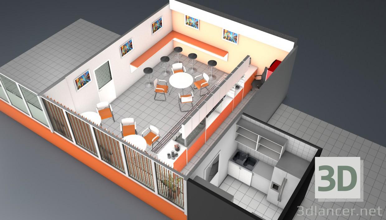 3d Model Cafe C4d Free Download 3dlancernet