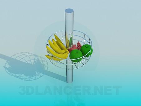 3d модель Стойка с фруктами – превью