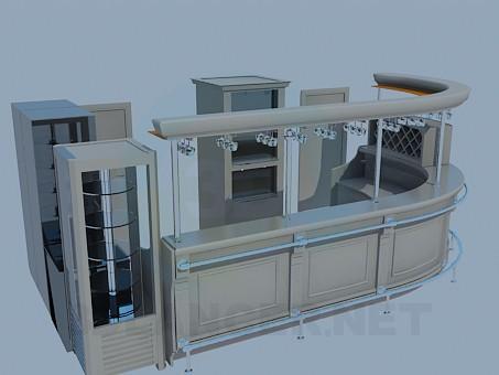 3d моделирование Бар в ресторан модель скачать бесплатно