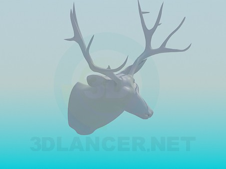 3d модель Чучело оленя – превью