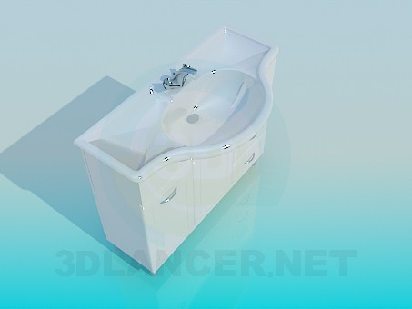 3d modeling Wash basin with pedestal model free download