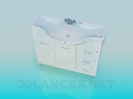 3d model Wash basin with pedestal - preview