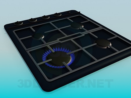 3d model Gas surface - preview