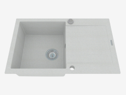 Sink, 1 bowl with a wing for drying - gray metal Rapido (ZQK S113)