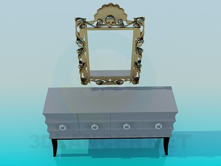 modelo 3D Pier-glass - escuchar